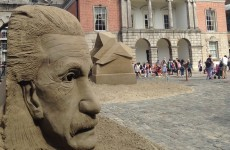 Giant sand sculptures return to Dublin Castle