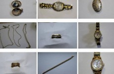 Does any of this jewellery belong to you? Gardaí found it in a raid