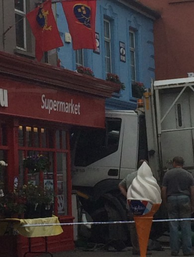 Truck crashes into Dingle shop