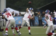 Eli Manning is fumbling footballs again – the NFL must be (nearly) back