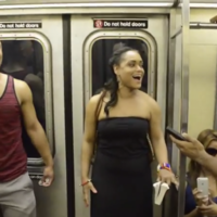Broadway cast of The Lion King surprise subway commuters with amazing performance