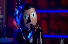 Michael Fassbender sang on Stephen Colbert's show last night