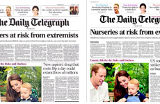 The Telegraph hastily change unfortunate front page headline-photo combo