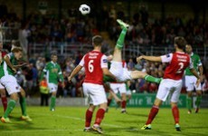 Watch the view from The Shed as Colin Healy scores a spectacular overhead winner for Cork City