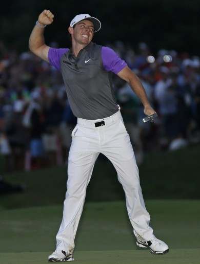'I wanted to get it done and get out of here' -- Rory McIlroy wins PGA championship in the dark