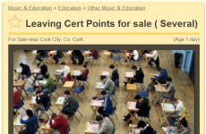 This Cork lad is selling his Leaving Cert points on DoneDeal