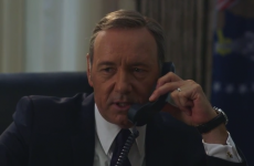 Watch Kevin Spacey (as Frank Underwood) prank call Hillary Clinton