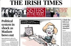 Mock Irish Times front page pulled from online edition