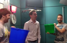 Ryan Tubridy has done the ice bucket challenge (with bottled water)
