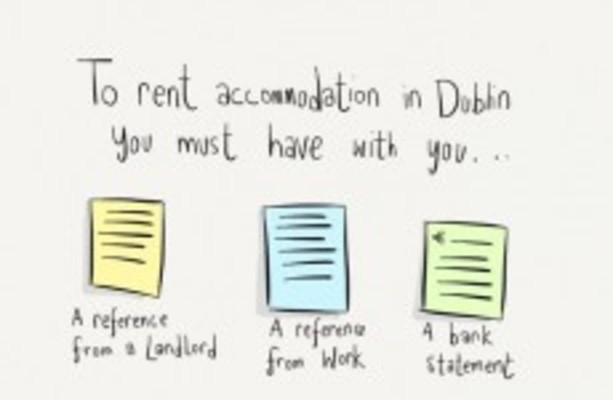 renting accommodation in dublin accurately summed up in one cartoon. Black Bedroom Furniture Sets. Home Design Ideas