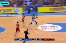 Freakishly long NBA player covers 72 feet in two dribbles