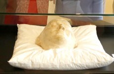 Grand nieces of Michael Collins present his death mask to museum