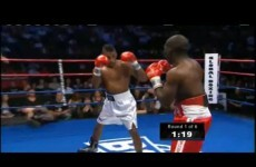 Boxer appears to feign injury to get out of fight