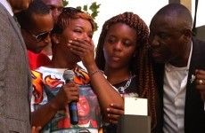 Mourners throng church in St. Louis for funeral of slain teen Michael Brown