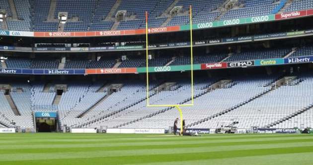 Snapshot - Croke Park is getting some new goalposts today