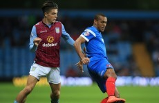The Villa fans were very excited by Ireland underage star Jack Grealish last night