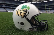 Snapshot: UCF hope for luck of the Irish with unique Croke Park Classic helmet