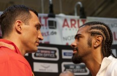 Watch: Haye promises 'brutal execution' of Klitschko
