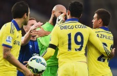 Roberto Martinez wasn't impressed with Diego Costa's taunting of Seamus Coleman