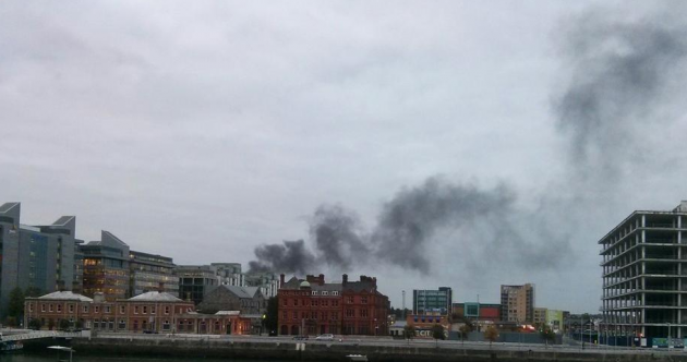 Fire brigade at the scene of blaze in inner-city Dublin
