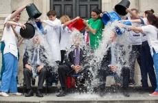 A minister did the Ice Bucket Challenge today…any guesses?