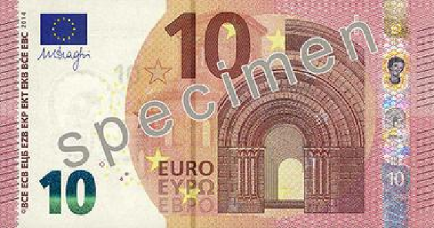 Spot the difference? Here's what the new €10 note looks like