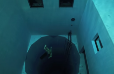 This video of an extremely deep swimming pool will give you weird feelings