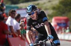 Froome up to second, Ireland's Dan Martin stays sixth at the Vuelta