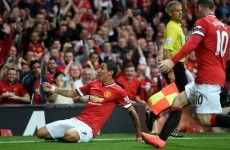 Who cares if he meant it? Here's Angel di Maria's first goal for Man United