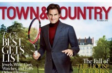 WHAT is going on with this Roger Federer magazine cover?