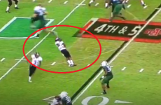 Player fakes his own death on College football trick play