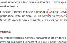Belgian newspaper accidentally refers to Gordon Brown as 'Golden Brown'