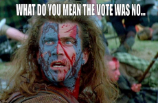 William Wallace trends in Ireland as Scotland says 'NO'