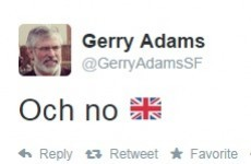 Gerry Adams' tweet on the the Scottish independence vote was to the point