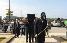 Why did farmers bring a Grim Reaper to an Aldi store?