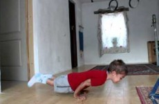 This 5-year-old kid is better at push-ups than you'll ever be