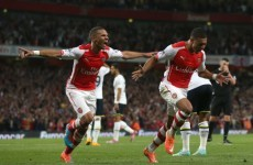 Oxlade-Chamberlain strikes late to earn derby point for Arsenal