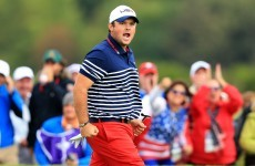 Patrick Reed is riling some Europe fans with his celebrations in today's singles