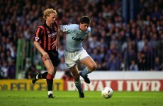 Here's the Man City team from March 1993 – when Totti made his Roma debut