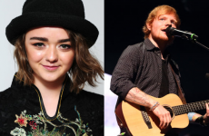 Maisie Williams and Ed Sheeran confirmed for this week's Late Late Show