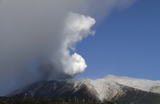This is the moment Mount Ontake erupted