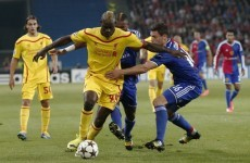 Liverpool were beaten in Basel after this goal from Marco Streller