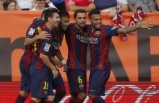Messi and Neymar do the business while Atletico crash to earth