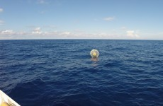 This guy had to be rescued after trying to walk to Bermuda in a giant bubble