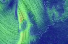 Here's how that storm looked above Ireland last night – in tweets and maps