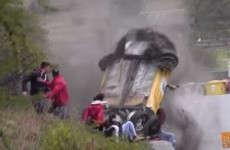 Spectators miraculously avoid injury after dangerous rally crash