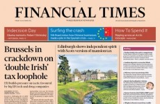 Ireland has made the front page of the Financial Times again…