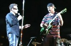 Blind man is pro Bono after being given onstage pass