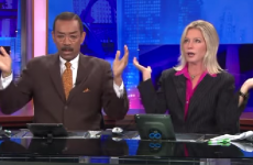 Ever wonder what newsreaders do during ad breaks?