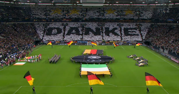 Snapshot: Home crowd pays tribute to Germany in spectacular fashion